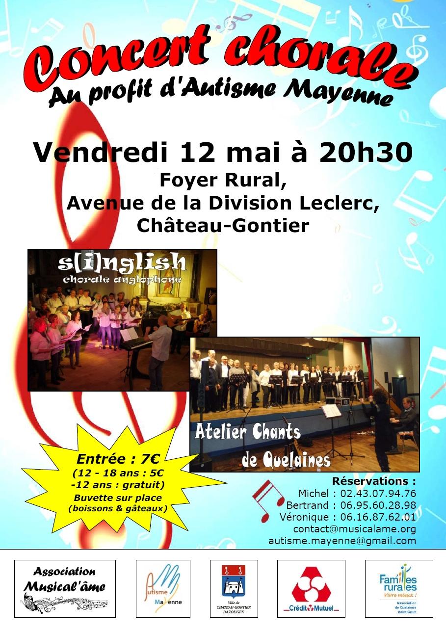 Affiche – Concert au profit d'Autisme Mayenne – Définitif
